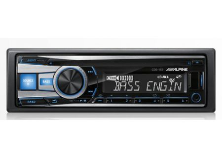 Alpine - CDE-152 - Car Stereos - Single DIN