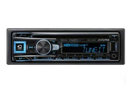 Alpine Single DIN Bluetooth Car Stereo Receiver - CDE-163BT
