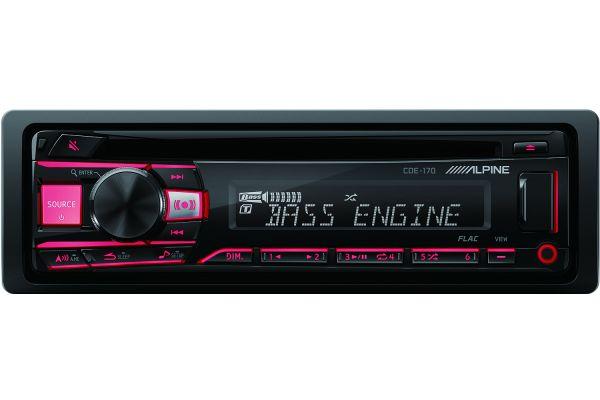 Alpine Single DIN Car Stereo Receiver - CDE-170