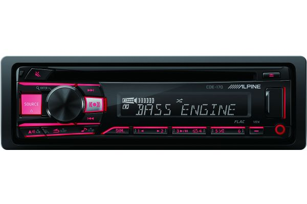 Large image of Alpine Single DIN Car Stereo Receiver - CDE-170