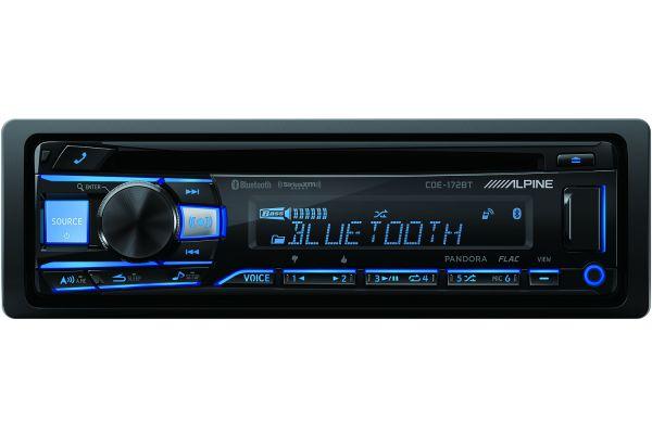 Alpine Single DIN Bluetooth Car Stereo Receiver - CDE-172BT