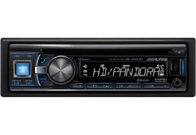 Alpine - CDE-HD137BT - Car Stereos - Single Din