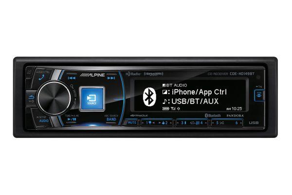 Alpine Single DIN CD/HD Radio Receiver - CDE-HD149BT