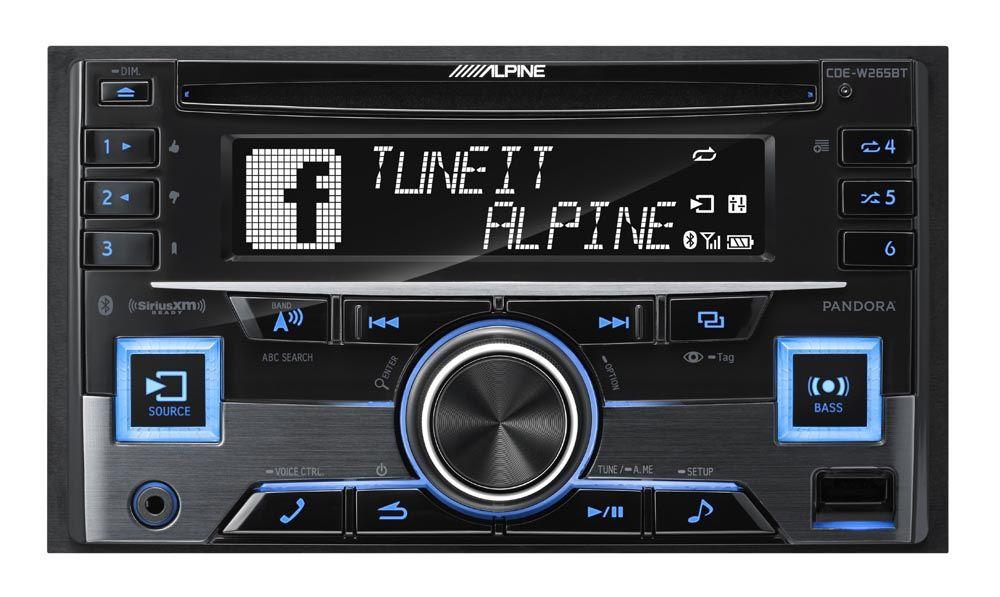 alpine din bluetooth car stereo receiver cde w265bt. Black Bedroom Furniture Sets. Home Design Ideas