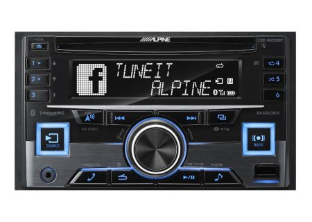 Alpine Double DIN Bluetooth Car Stereo Receiver - CDE-W265BT