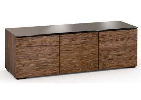 Salamander Designs Chameleon Collection Denver 237 Medium Walnut Textured AV Cabinet  - C/DV237/MW