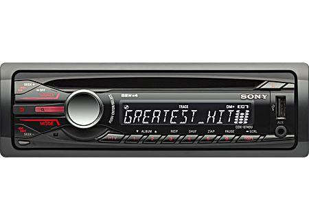 Sony - CDX-GT40U - Car Stereos - Single DIN