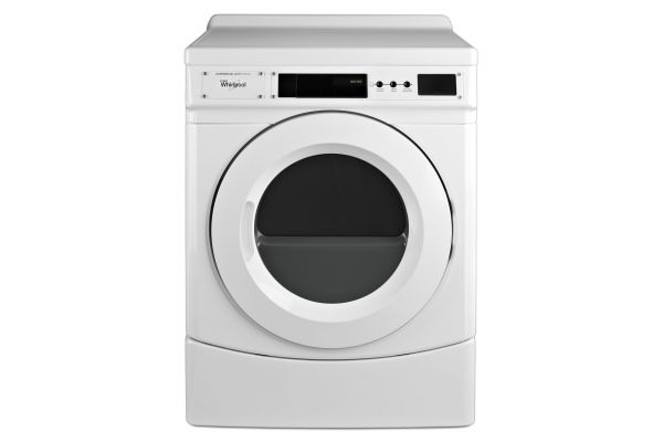 Whirlpool 6.7 Cu. Ft. Commercial White Electric Dryer - CED9160GW