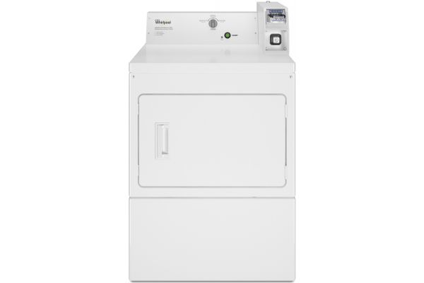 "Whirlpool 27"" White Commercial Electric Dryer - CEM2745FQ"