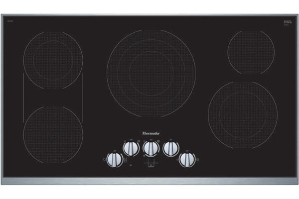 """Large image of Thermador 36"""" Masterpiece Series Stainless Steel Electric Cooktop - CEM366TB"""