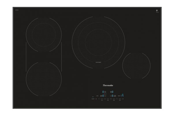 """Large image of Thermador 30"""" Masterpiece Series Black Electric Cooktop - CET305TB"""