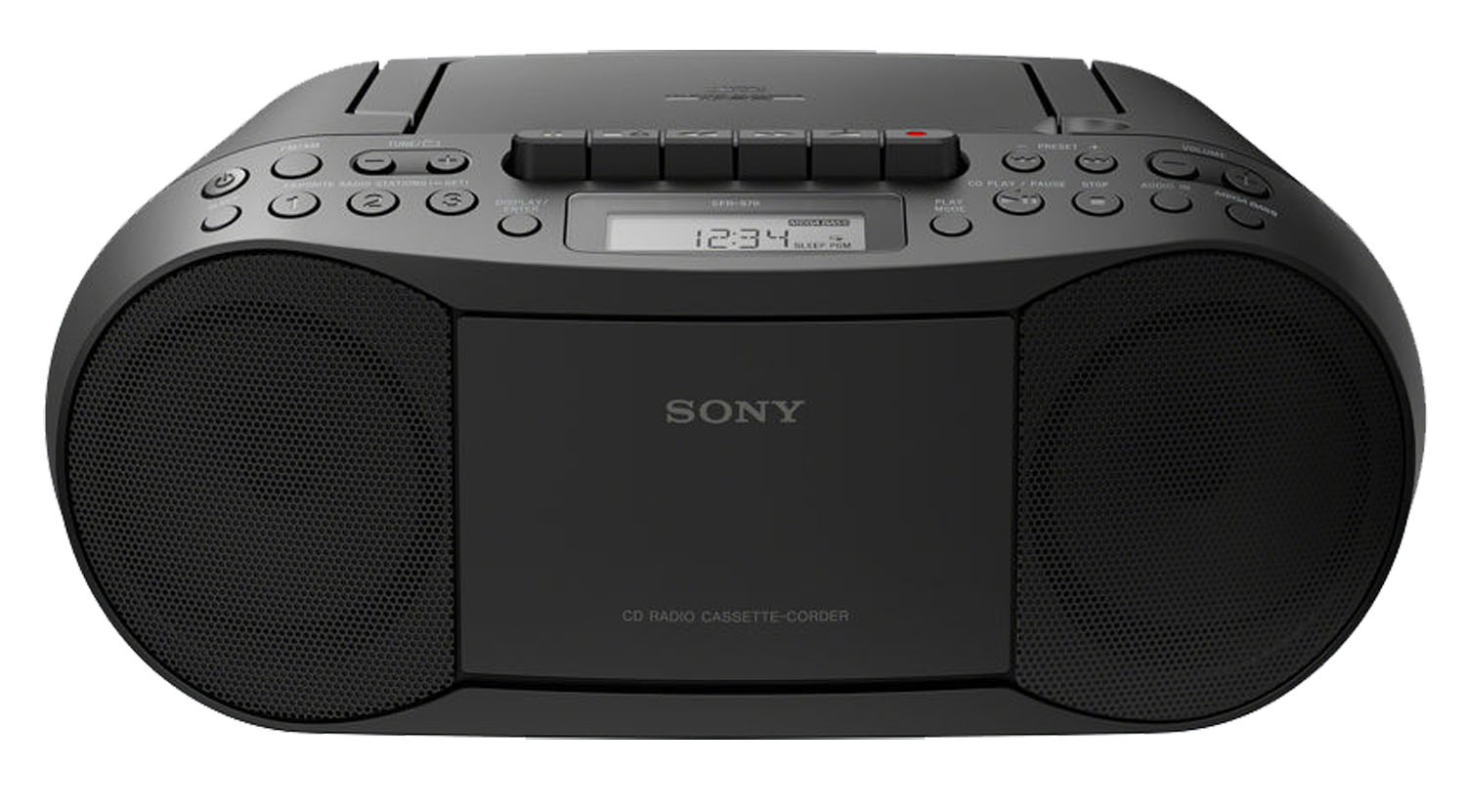 sony black cd radio cassette recorder boombox cfds70blk. Black Bedroom Furniture Sets. Home Design Ideas