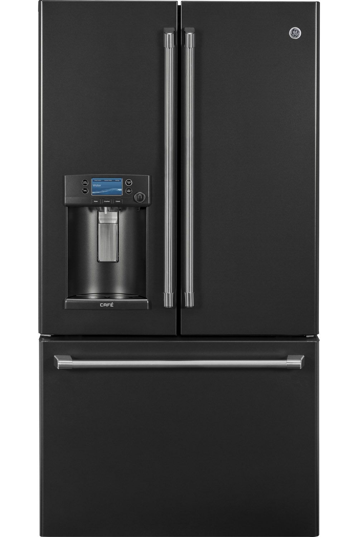 Ge cafe black slate french door refrigerator cfe28uelds ge cafe cfe28uelds french door refrigerators rubansaba