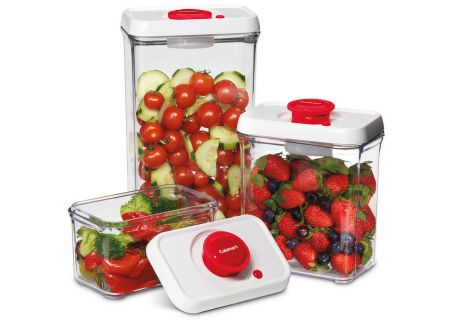 Cuisinart Red Vacuum Seal Containers - CFS-TC-S6R