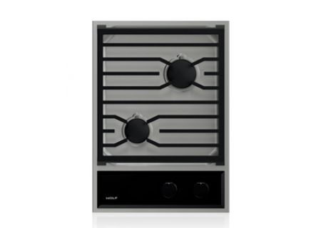Wolf 15 Stainless Transitional Gas Cooktop CG152TFS