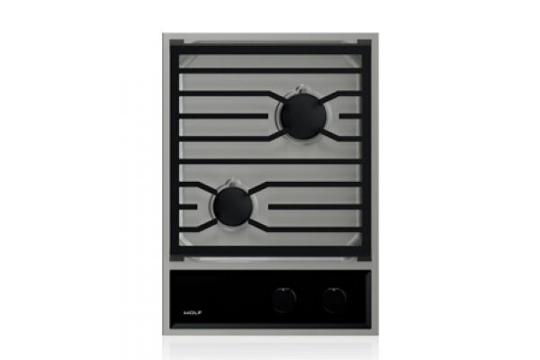 """Large image of Wolf 15"""" Stainless Steel Transitional Gas Cooktop - CG152TF/S"""