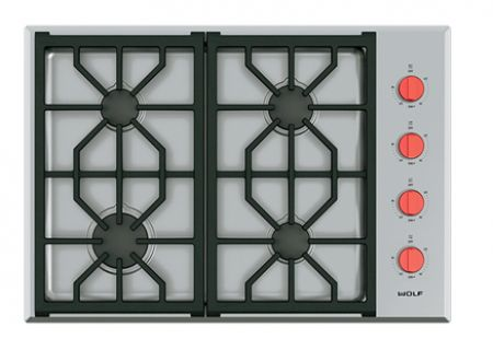 "Wolf 30"" Stainless Steel Professional Gas Cooktop  - CG304P/S"