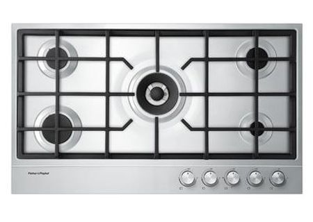 """Fisher & Paykel 36"""" Stainless Steel 5 Sealed Burners Gas Cooktop - CG365DNGX1"""