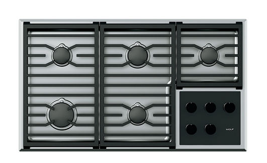 Wolf 36 Stainless Steel Transitional Gas Cooktop Cg365t S