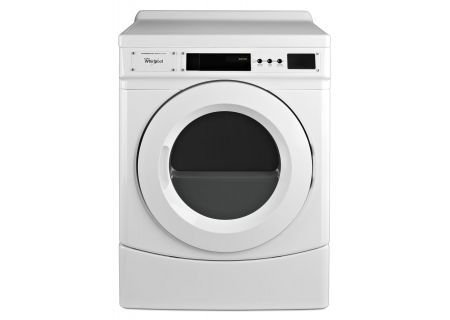 """Whirlpool 27"""" White Commercial Gas Dryer - CGD9160GW"""