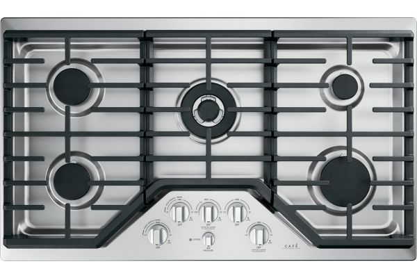 """Large image of Cafe 36"""" Stainless Steel Gas Cooktop - CGP95362MS1"""