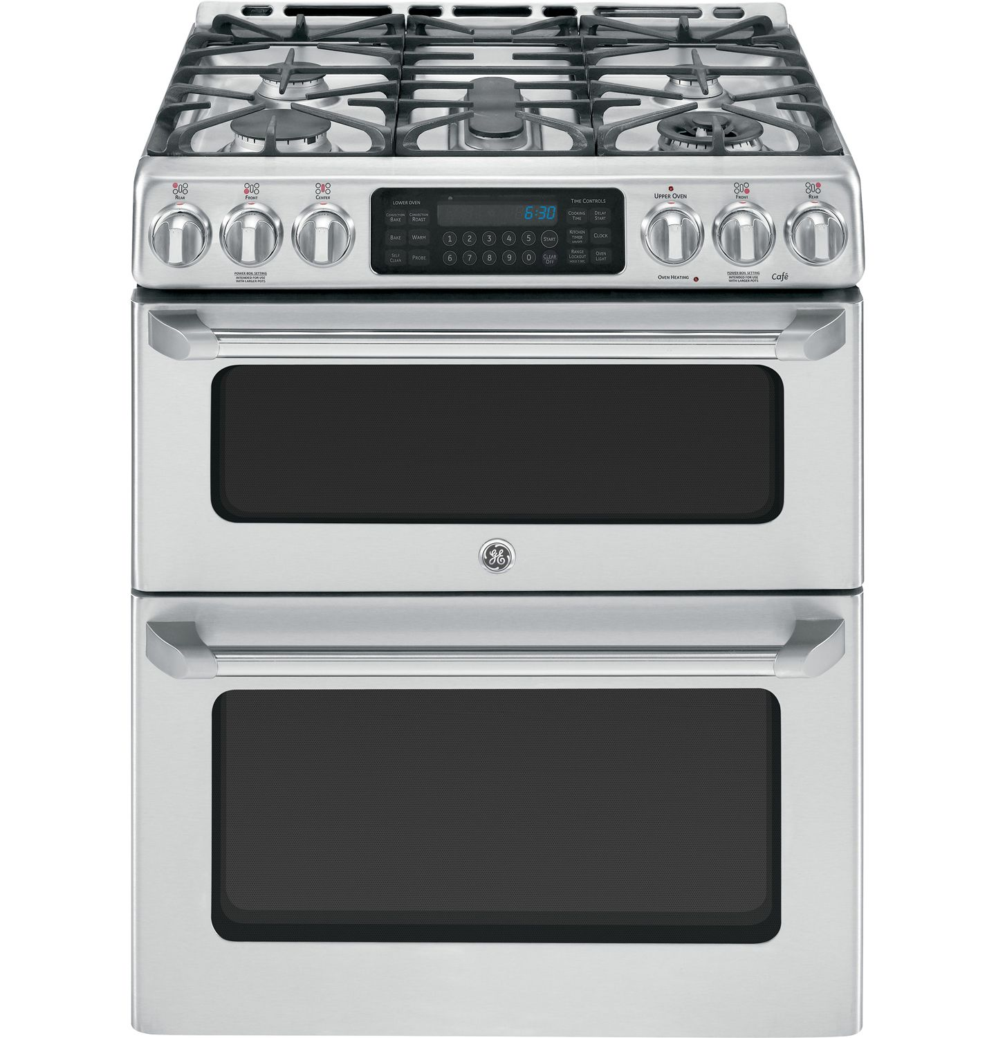 Ge Cafe 30 Stainless Double Oven Gas Range Cgs990setss