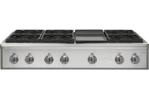 "Cafe 48"" Stainless Steel Professional Gas Rangetop - CGU486P2MS1"