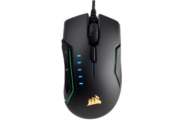 Corsair Black GLAIVE RGB Gaming Mouse - CH-9302011-NA