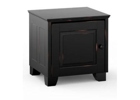 Salamander Designs Chameleon Collection Distressed Black Hampton 217 AV Cabinet  - C/HA217/DB