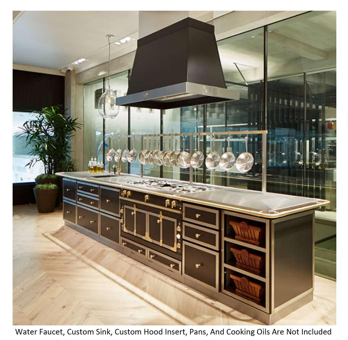 la cornue chateau 120 dual fuel range island chateau120ile. Black Bedroom Furniture Sets. Home Design Ideas