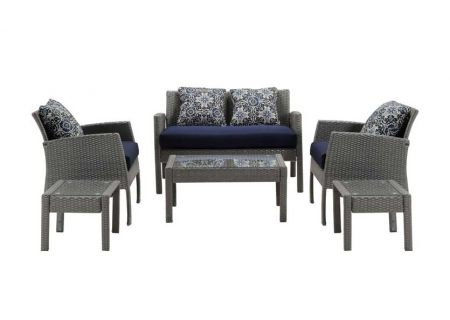 Hanover - CHEL-6PC-NVY - Patio Seating Sets