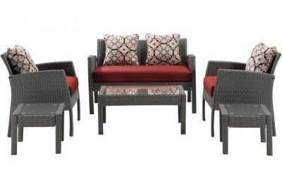 Hanover - CHEL-6PC-RED - Patio Furniture