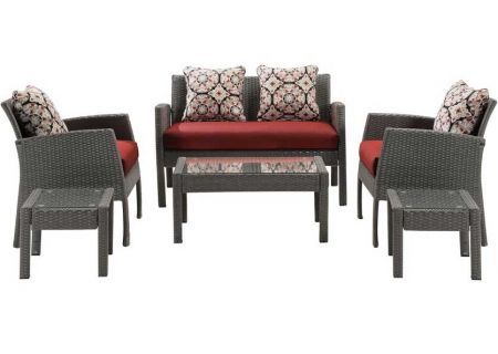 Hanover - CHEL-6PC-RED - Patio Seating Sets