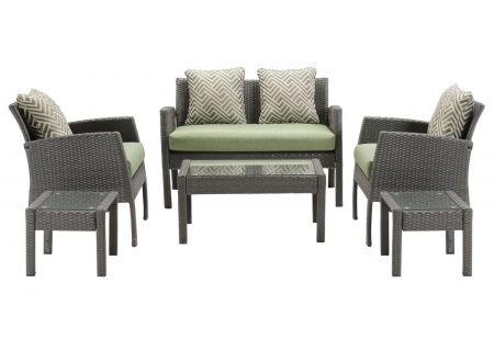 Hanover Chelsea 6-Piece Cilantro Green Patio Set - CHEL-6PC-GRN