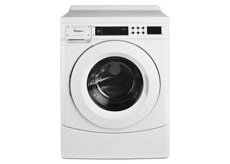 Whirlpool 3.1 Cu. Ft. Commercial White Front Loading Washer - CHW9160GW