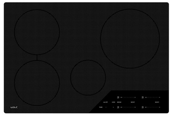 """Large image of Wolf 30"""" Black Contemporary Electric Induction Cooktop - CI304C/B"""