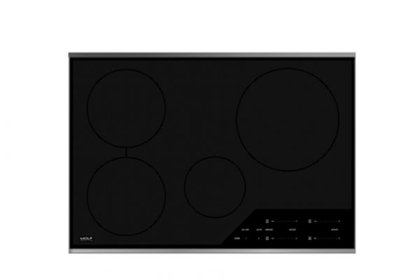 """Large image of Wolf 30"""" Stainless Steel Transitional Electric Induction Cooktop - CI304T/S"""