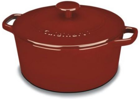 Cuisinart Red 5 Qt. Round Covered Casserole - CI650-25CR