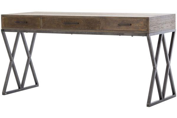 Large image of Four Hands Hughes Collection Greyed Oak Sampson Desk - CIMP-11J