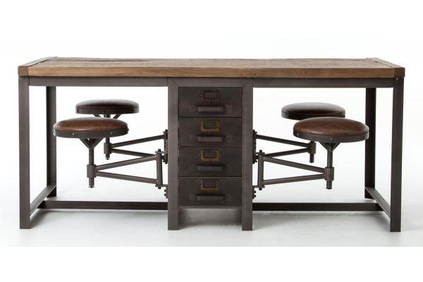 Four Hands Bleached Pine Rupert Work Table - CIMP-2E-RBBP