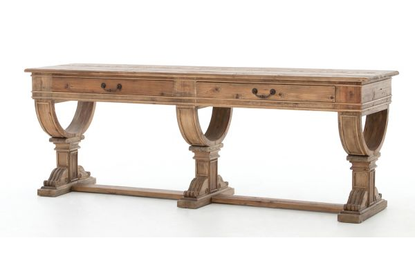 Large image of Four Hands Bleached Pine Sergio Console Table - CIMP-M9-BP