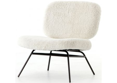Four Hands Irondale Collection Ivory Angora Caleb Accent Chair - CIRD-249E1-013
