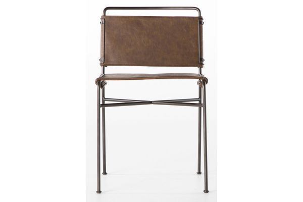 Four Hands Irondale Collection Wharton Distressed Brown Dinning Chair - CIRD-201-926