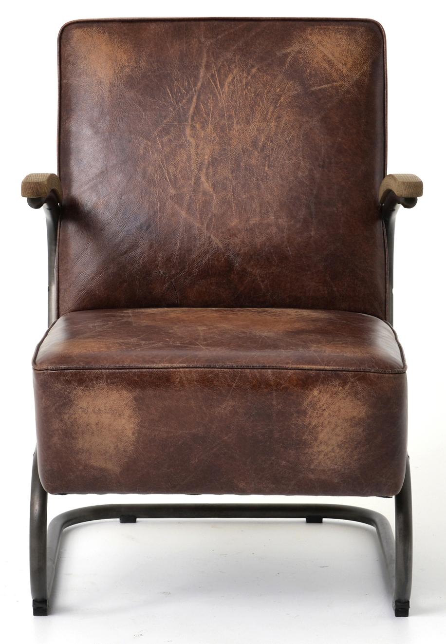 Four Hands Brown Leather Club Chair Cird 48e1c5 E3a5