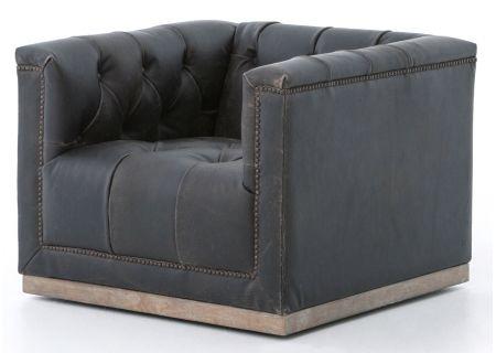 Four Hands Destroyed Black Maxx Swivel Chair - CKEN-F4Z-928
