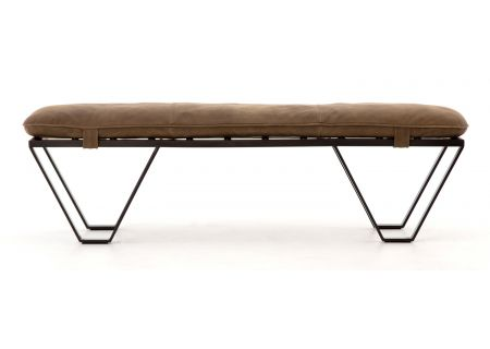 "Four Hands Kensington Collection Darrow 60"" Bench-Umber Grey - CKEN-J9A8-061"