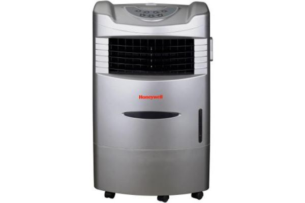 Honeywell 470 CFM Indoor Evaporative Air Cooler (Swamp Cooler) with Remote Control in Silver - CL201AE