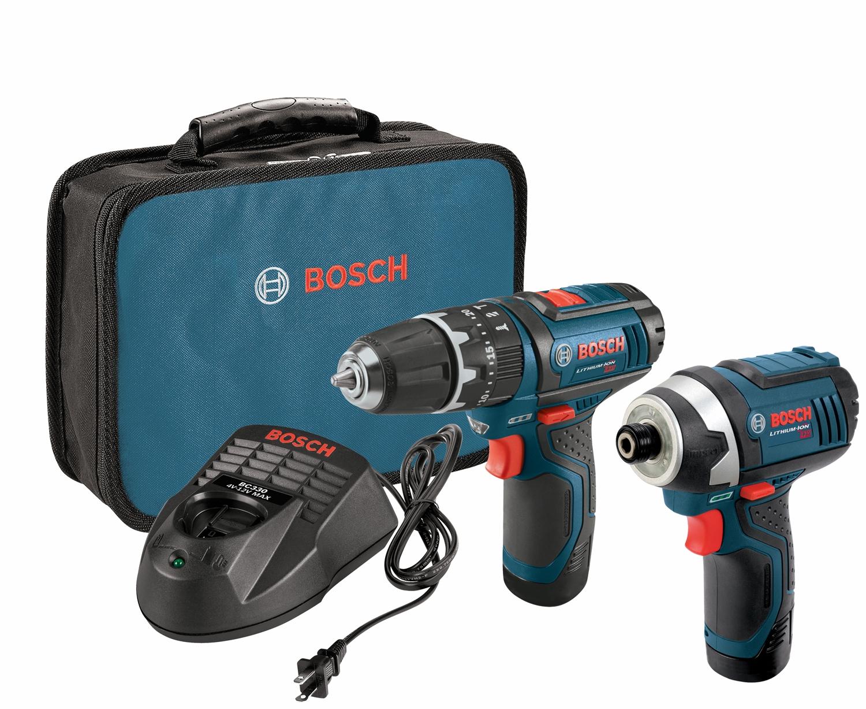 bosch tools 12 v max 2 tool combo kit clpk241 120. Black Bedroom Furniture Sets. Home Design Ideas