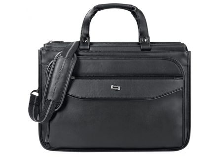 "Solo Classic Collection Black 15.6"" Triple Compartment Briefcase - CLS346-4"