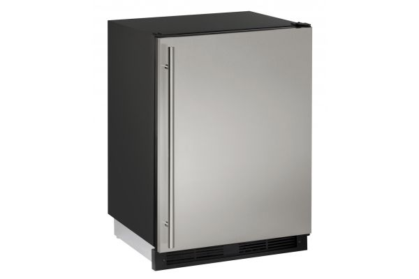 "Large image of U-Line 24"" Stainless Steel Combo 1000 Series Compact Refrigerator - U-CO1224FS-00B"